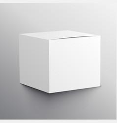 Realistic empty box mockup template design vector