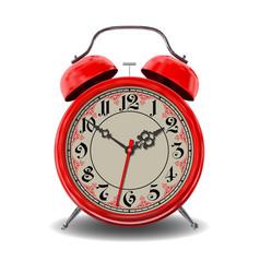 Red alarm clock vector