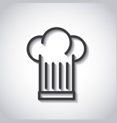 Restaurant menu emblem icon vector