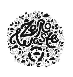 save the planet zero waste black and white vector image