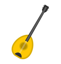 Saz baglama music instrument icon isolated vector