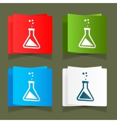 Set icons chemical experiments blue background eps vector