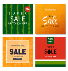 Set of sale banner templates vector