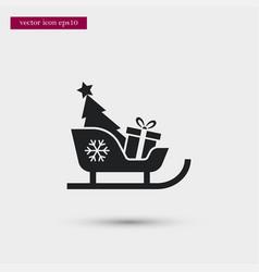 Sleigh icon simple winter sign vector