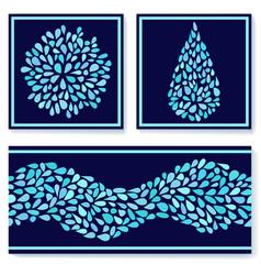Small water drops vector