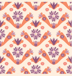 soft pastel vintage floral cream and orange vector image