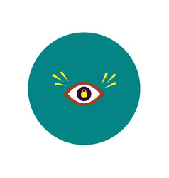 Stylish icon in color circle eye problems vector