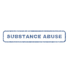 Substance abuse textile stamp vector