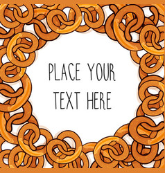 Template with many pretzels vector
