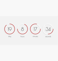 time day hour minutes seconds flip countdown vector image