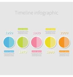 Timeline infographic half round icon vector