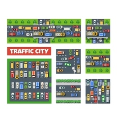 Traffic Transportation set vector image