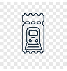 train ticket concept linear icon isolated on vector image