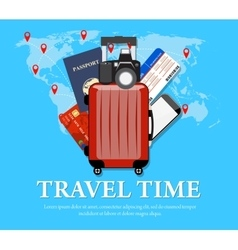 Travel concept flat banner vector