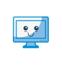 Tv cute cartoon vector