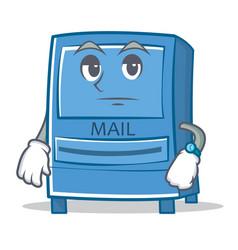 Waiting mailbox character cartoon style vector