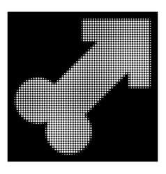 white halftone male sexual symbol icon vector image