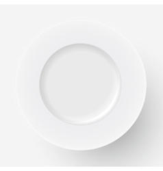 White plate icon vector
