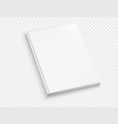 white thin hardcover book mock up isolated on vector image