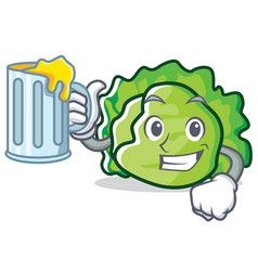 With lettuce character mascot style vector
