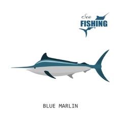 Blue marlin Sea fishing vector image vector image