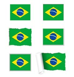 Brazil flag set vector image