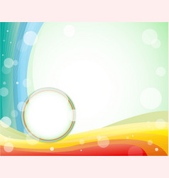 Colorfull layout in light green background vector image vector image