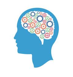 head gears idea creativity vector image