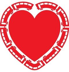 Heart Train vector image vector image