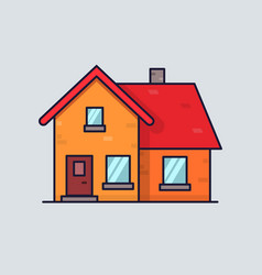 isolated flat house home concept simple and vector image