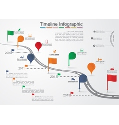 Timeline Infographic template with icons vector image