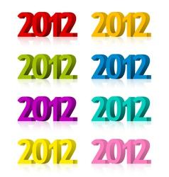 2012 symbols vector image