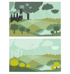 Ecology Concept for vector image vector image