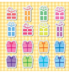 gift boxes card vector image vector image