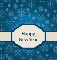 Congratulation Card for Happy New Year vector image vector image