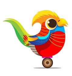 Golden Pheasant cute cartoon abstract vector image