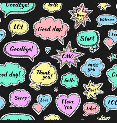 hand drawn set of speech bubbles vector image vector image