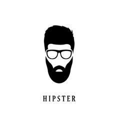 hipster fashion man hair beards and glasses vector image vector image