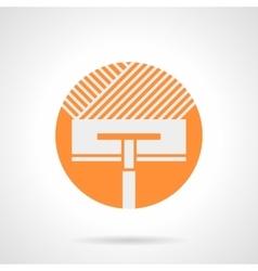 Orange round icon for floor insulation vector