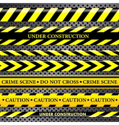 Set of danger and police lines vector image