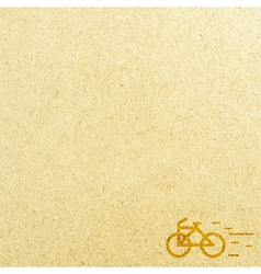 Bicycle and paper vector image vector image