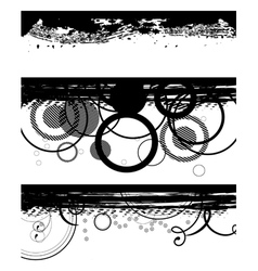 grunge black banners vector image