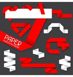 Paper banners and ribbons vector image