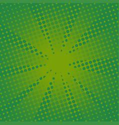 retro rays comic green background vector image vector image