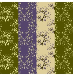 Set of vintage seamless background vector image