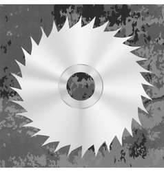 Silver metal saw disc vector