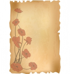 vintage poppies background vector image vector image