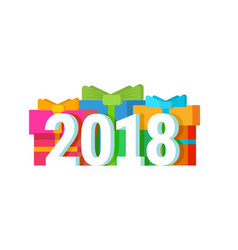 2018 happy new year calendar christmass text for vector