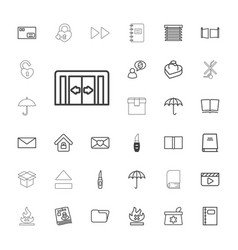 33 open icons vector