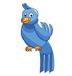 A blue bird vector